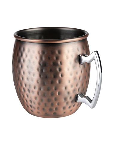 TAZA MOSCOW MULE COLOR COBRE ANTIGUO MARTILLADO CAPACIDAD 0.50 LT EUROPEO